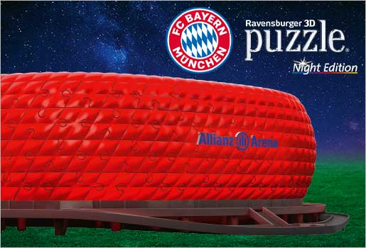 Allianz Arena 3D Puzzle- Night Edition