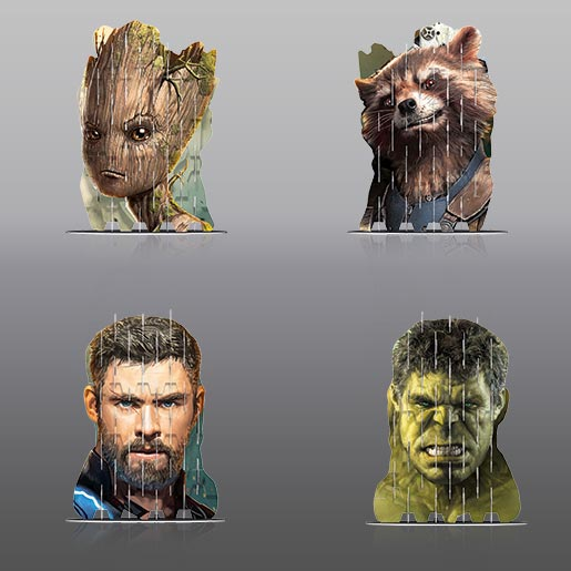 Video Image - 4S Vision: Groot, Rocket, Thor, Hulk